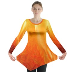 Floating Orange And Yellow Long Sleeve Tunic