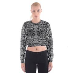DMS2 BK MARBLE SILVER Women s Cropped Sweatshirt