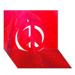 Red And Beautiful Peace Sign 3d Greeting Card (7x5)