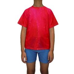 Red and Beautiful Kid s Short Sleeve Swimwear