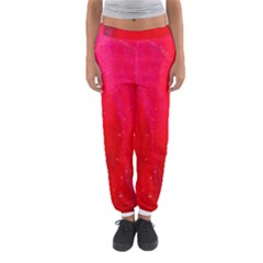 Red and Beautiful Women s Jogger Sweatpants