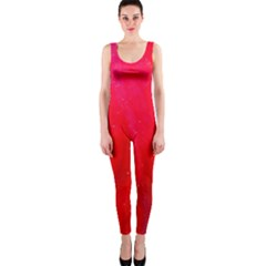 Red And Beautiful Onepiece Catsuit