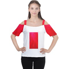 Red and Beautiful Women s Cutout Shoulder Tee