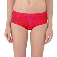 Red And Beautiful Mid Waist Bikini Bottoms