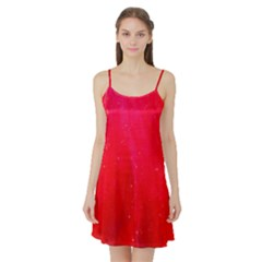 Red And Beautiful Satin Night Slip