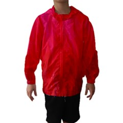 Red and Beautiful Hooded Wind Breaker (Kids)