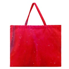 Red And Beautiful Zipper Large Tote Bag