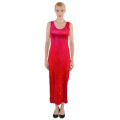Red And Beautiful Fitted Maxi Dress