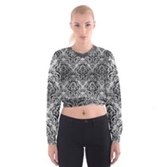 DMS1 BK MARBLE SILVER (R) Women s Cropped Sweatshirt