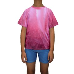 Floating Pink Kid s Short Sleeve Swimwear