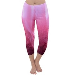 Floating Pink Capri Winter Leggings