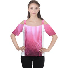 Floating Pink Women s Cutout Shoulder Tee