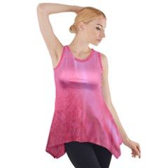 Floating Pink Side Drop Tank Tunic
