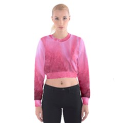 Floating Pink Women s Cropped Sweatshirt