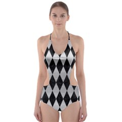 DIA1 BK MARBLE SILVER Cut-Out One Piece Swimsuit