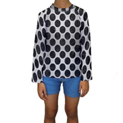 CIR2 BK MARBLE SILVER (R) Kid s Long Sleeve Swimwear