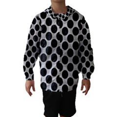 CIR2 BK MARBLE SILVER (R) Hooded Wind Breaker (Kids)