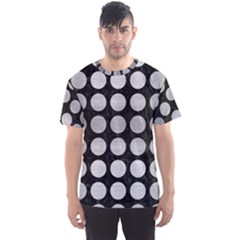 Circles1 Black Marble & Silver Brushed Metal Men s Sports Mesh Tee