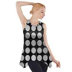 CIR1 BK MARBLE SILVER Side Drop Tank Tunic