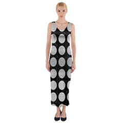 CIR1 BK MARBLE SILVER Fitted Maxi Dress