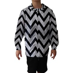 CHV9 BK MARBLE SILVER (R) Hooded Wind Breaker (Kids)
