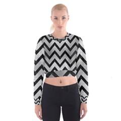 CHV9 BK MARBLE SILVER (R) Women s Cropped Sweatshirt