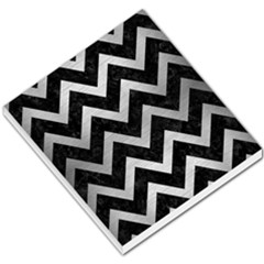 Chevron9 Black Marble & Silver Brushed Metal Small Memo Pads