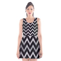 CHV9 BK MARBLE SILVER Scoop Neck Skater Dress
