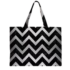 CHV9 BK MARBLE SILVER Large Tote Bag