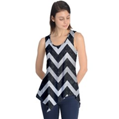 CHV9 BK MARBLE SILVER Sleeveless Tunic