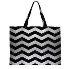 CHV3 BK MARBLE SILVER Large Tote Bag