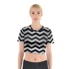 CHV3 BK MARBLE SILVER Cotton Crop Top