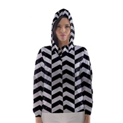 CHV2 BK MARBLE SILVER Hooded Wind Breaker (Women)