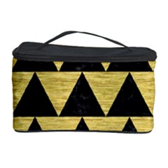 Triangle2 Black Marble & Gold Brushed Metal Cosmetic Storage Case