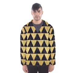 Triangle2 Black Marble & Gold Brushed Metal Hooded Wind Breaker (men)