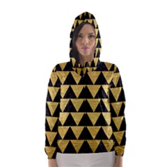 TRI2 BK MARBLE GOLD Hooded Wind Breaker (Women)