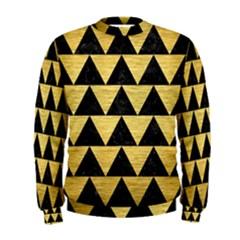 Triangle2 Black Marble & Gold Brushed Metal Men s Sweatshirt
