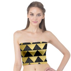 Triangle2 Black Marble & Gold Brushed Metal Tube Top