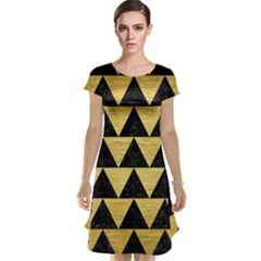 Triangle2 Black Marble & Gold Brushed Metal Cap Sleeve Nightdress