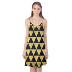 Triangle3 Black Marble & Gold Brushed Metal Camis Nightgown