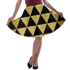 TRI3 BK MARBLE GOLD A-line Skater Skirt