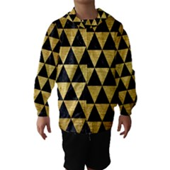 Triangle3 Black Marble & Gold Brushed Metal Hooded Wind Breaker (kids)