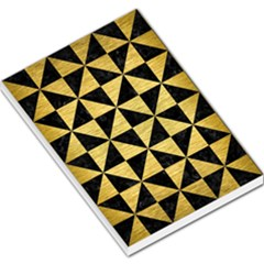 Triangle1 Black Marble & Gold Brushed Metal Large Memo Pads