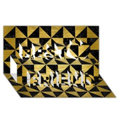 Triangle1 Black Marble & Gold Brushed Metal Best Friends 3d Greeting Card (8x4)