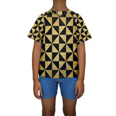TRI1 BK MARBLE GOLD Kid s Short Sleeve Swimwear