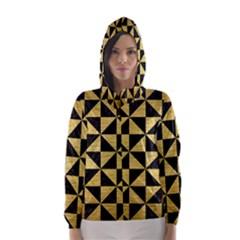 TRI1 BK MARBLE GOLD Hooded Wind Breaker (Women)