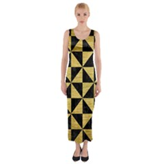 TRI1 BK MARBLE GOLD Fitted Maxi Dress