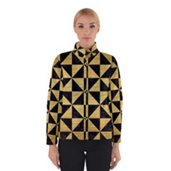 Triangle1 Black Marble & Gold Brushed Metal Winter Jacket