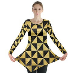 TRI1 BK MARBLE GOLD Long Sleeve Tunic