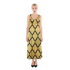 TIL1 BK MARBLE GOLD (R) Full Print Maxi Dress